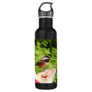 A Bird in the Hand Stainless Steel Water Bottle
