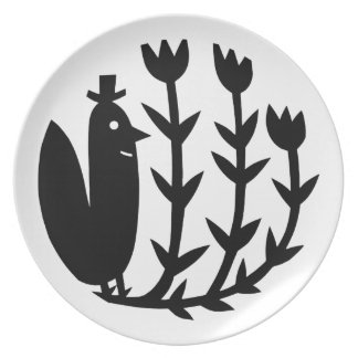 A Bird With A Hat Dinner Plate