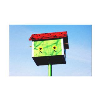 A birdhouse. canvas print