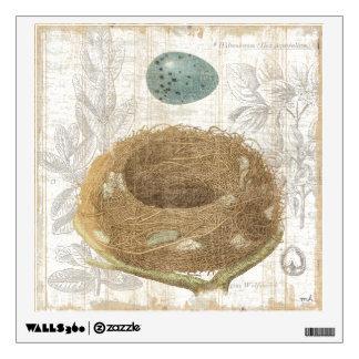 A Bird's Nest with a Decorative Egg Wall Decor