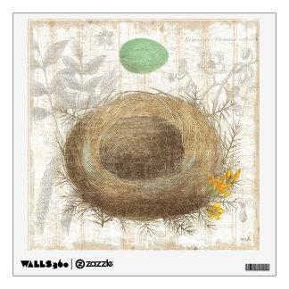 A Bird's Nest with a Green Egg Wall Sticker