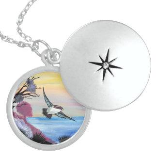A Birds View Locket Necklace