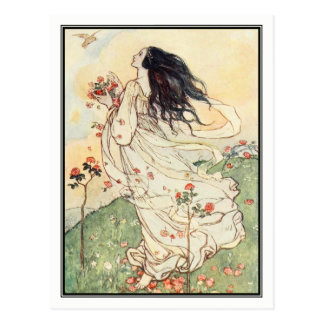 A Birthday by Florence Harrison Postcard