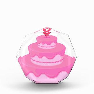 a birthday cake acrylic award