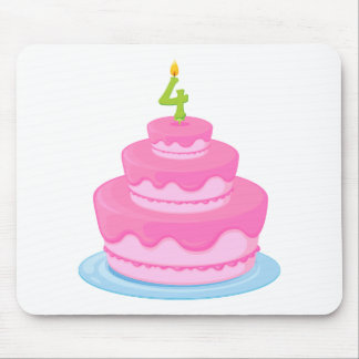 a birthday cake mouse pad