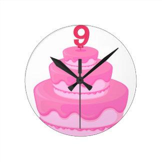 a birthday cake round clock