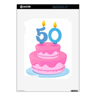 a birthday cake decals for the iPad 2