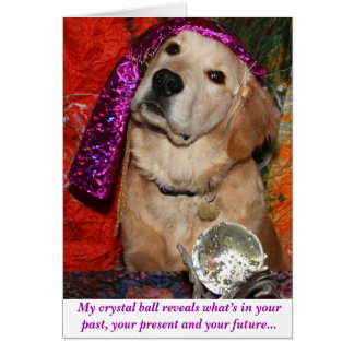 A Birthday Prediction Greeting Card