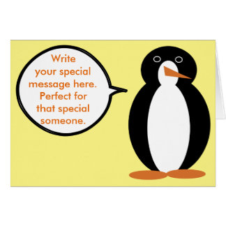 penguin lover greeting cards  zazzle, Birthday card