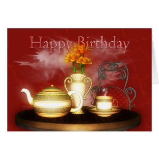 A Birthday Tea, Happy Birthday Card
