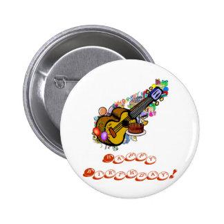 A Birthday Uke Button! 2 Inch Round Button
