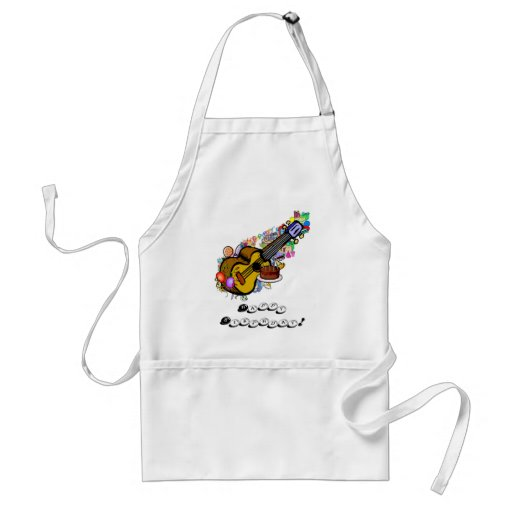 Happy Birthday Ukulele Standard Adult Apron