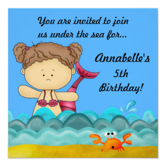 A Birthday Under the Sea - A Mermaid Invitation