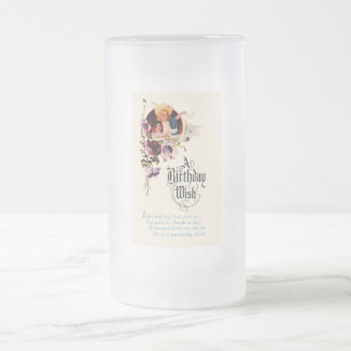 A Birthday Wish Frosted Glass Beer Mug
