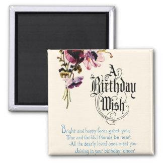A Birthday Wish Fridge Magnets