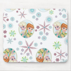 Mousepad with Anna & Elsa Frozen Fever Sister Gift design