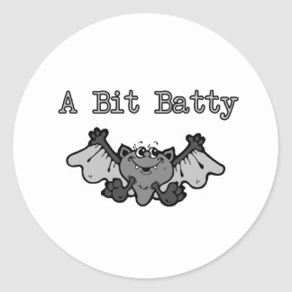 A Bit Batty Classic Round Sticker