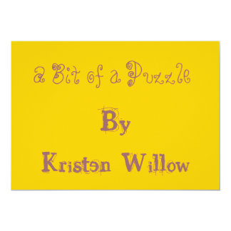 A Bit of a Puzzle, By Kristen Willow 13 Cm X 18 Cm Invitation Card