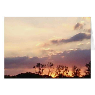 A Bit of Sunset Greeting Card