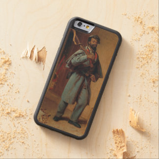 A Bit of War History: The Reqruit by T.W. Wood Carved® Maple iPhone 6 Bumper Case