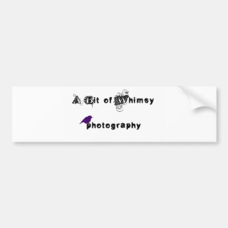 A Bit of Whimsy Photography Logo Bumper Sticker