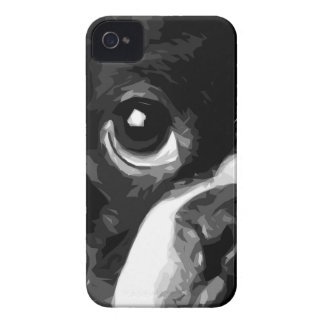 A black and white Boston terrier iPhone 4 Cover