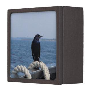 A Black Bird on the Ferry Jewelry Box