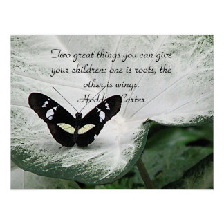 A Black Butterfly quote for Children Print