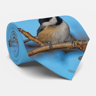 A Black-Capped Chickadee on the Pear Tree Tie