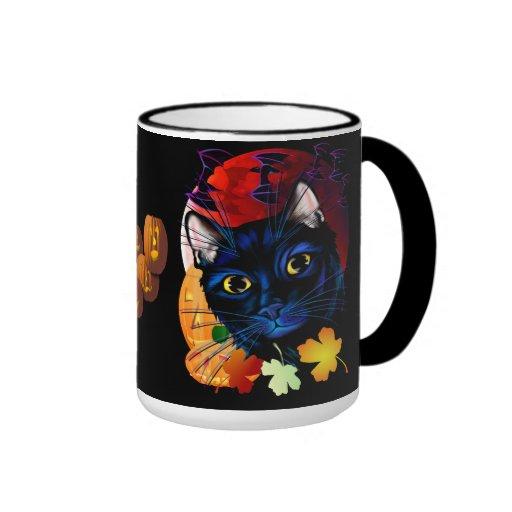 A Black Cat Halloween Mug