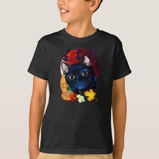 A Black Cat Halloween Shirt