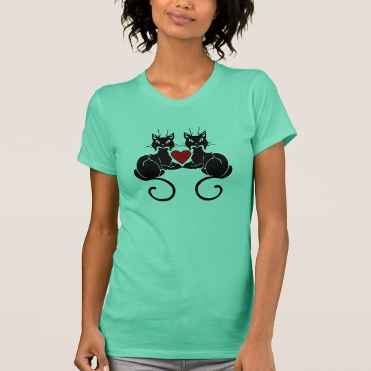 A Black Cat Love T-Shirt