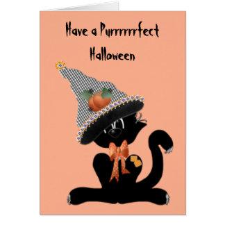A Black Cat Purrrrfect Halloween Card