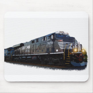 A Black Diesel Locomotive Mousepad