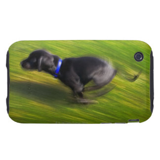 A black dog running iPhone 3 tough case