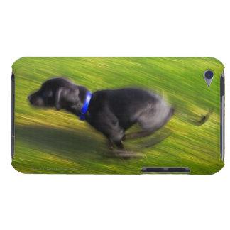 A black dog running iPod Case-Mate case