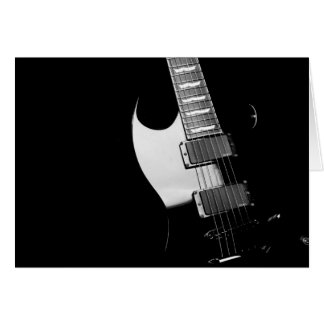A black Guitar Card