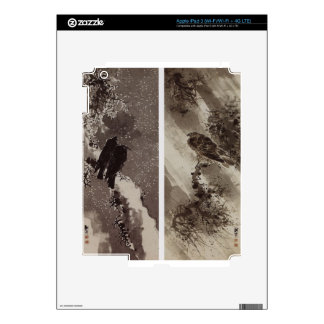 A Black Hawk and Two Crows by Yosa Buson Skins For iPad 3