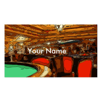 A Black Jack Table in the heart of a Vegas Casino Business Card