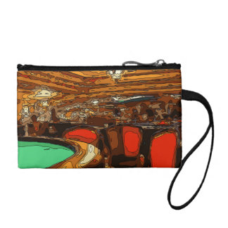 A Black Jack Table in the heart of a Vegas Casino Coin Purse