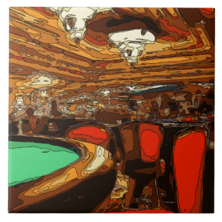 A Black Jack Table in the heart of a Vegas Casino Ceramic Tiles