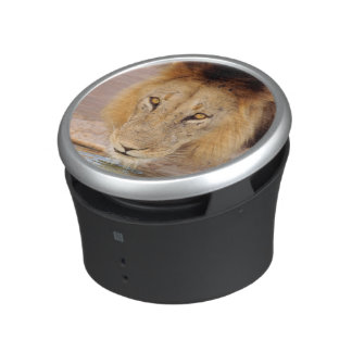 A Black Maned Lion at a waterhole Bluetooth Speaker