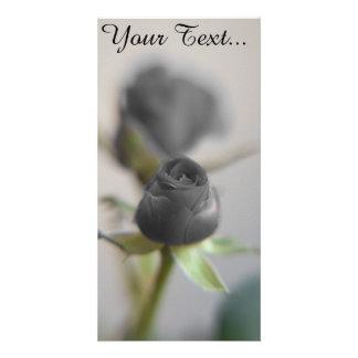 A black rose card