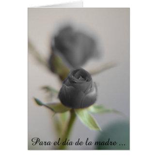 A Black Rose for Mother ... Postcard gefunden auf Zazzle