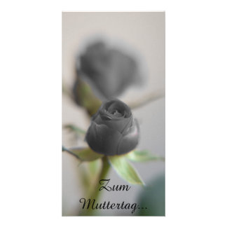 A Black Rose for Mother ... Photo Card