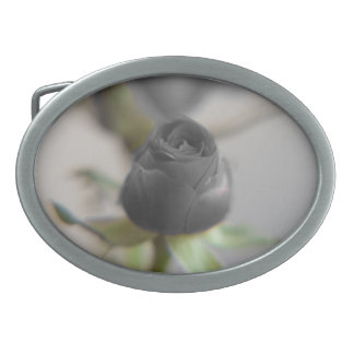 A black rose for your sweetheart... oval belt buckle