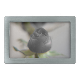A black rose for your sweetheart... rectangular belt buckle