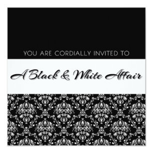 Black Affair Invitations Announcements Zazzle