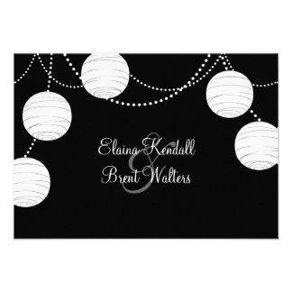 A Black & White Party Lanterns RSVP Custom Announcement