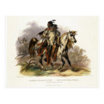 A Blackfoot Indian on Horseback, plate 19 from Vol Post Card